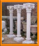 Natural Marble Carved Marble Columns / Pillars