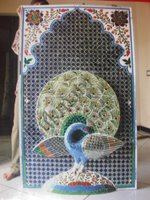 Color Glass Mosaic & Tikri Mirror works, Item Number: 14
