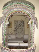 Color Glass Mosaic & Tikri Mirror works, Item Number: 16