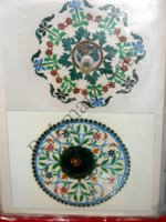 Color Glass Mosaic & Tikri Mirror works, Item Number: 45