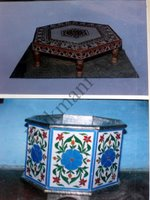 Color Glass Mosaic & Tikri Mirror works, Item Number: 53