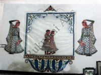 Color Glass Mosaic & Tikri Mirror works, Item Number: 64