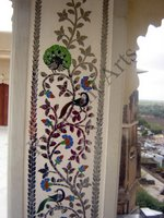 Color Glass Mosaic & Tikri Mirror works, Item Number: 66