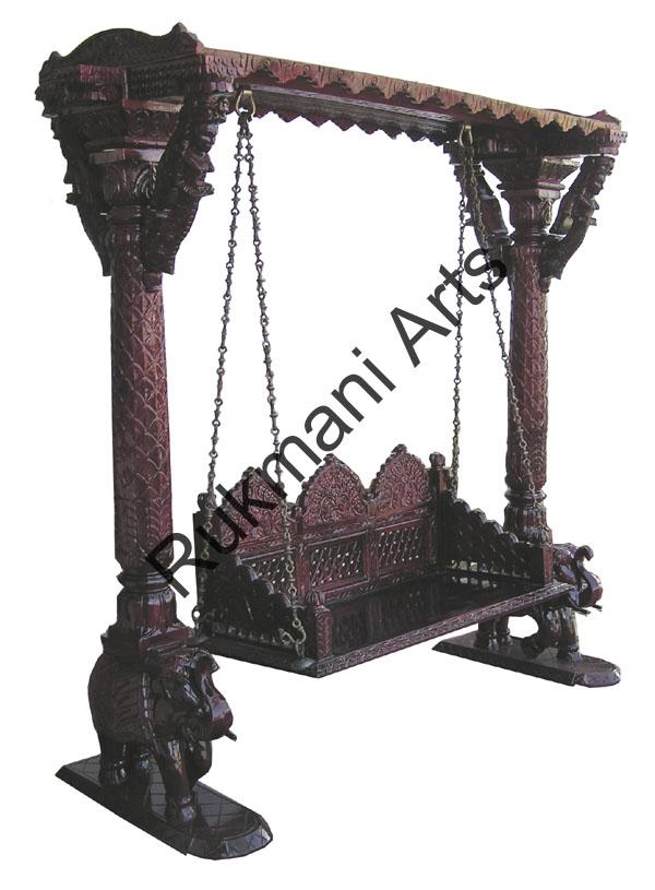 Rukmani arts  wooden swings 38