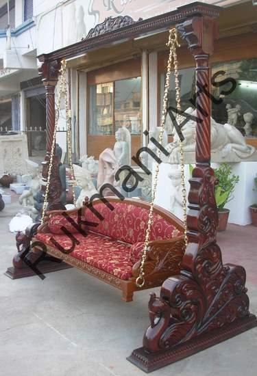 Rukmani arts  wooden swings 54