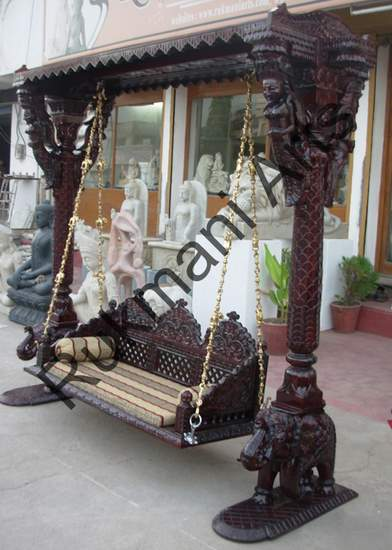 Rukmani arts  wooden swings 56