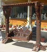 Wooden Indian Carved jhula Jhoola