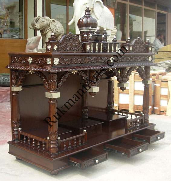 Section: Wooden Carved Teakwood Temple / Mandir furniture, Models ...
