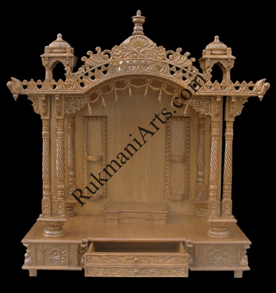 Code 37 Wooden Carved Teakwood Temple Mandir Furniture