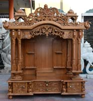 Teak Wood Pooja Temple / Puja Mandir Mandap Models Designs ...