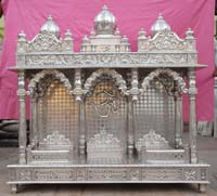 Wooden Temple / Mandir home indian design small wooden mandir hand ...