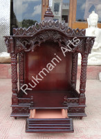 Teak wood Pooja Temple / Puja Mandir mandap Models designs