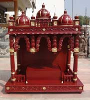 Wood Temple, Mandir designs for home with prices, house Wooden Carved Teakwood