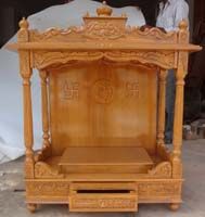 Code 75 Wooden Carved Teakwood Temple Mandir Wooden
