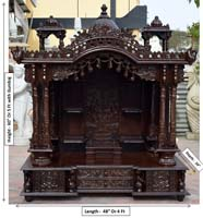 Teak wood Pooja Temple / Puja Mandir mandap Models designs