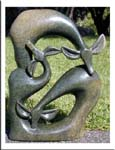 Garden Abstract Sculpture, Stone Modern Art Piece