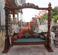 Wooden Indian Carved jhula Jhoola